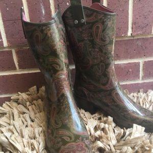 Capelli Paisley Cowboy Rain Boot SZ10 | $30